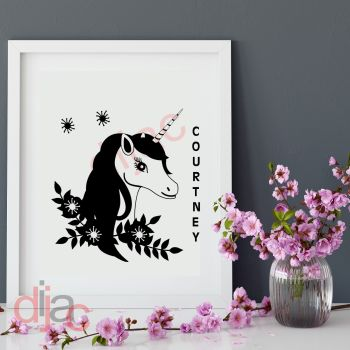 UNICORN (D1)PERSONALISED15 x 15 cm