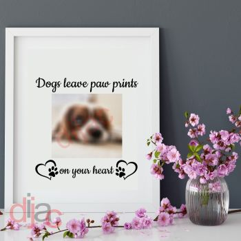 DOGS LEAVE PAW PRINTS 15 X 15 cm