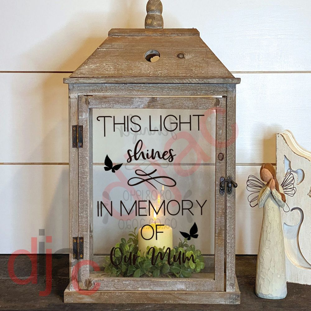 THIS LIGHT SHINES (D1)2 part DECAL13 x 9 cm