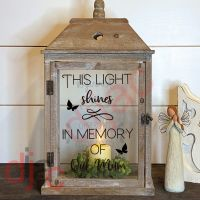 MEMORIAL 2 part LANTERN DECAL 13 x 9 cm