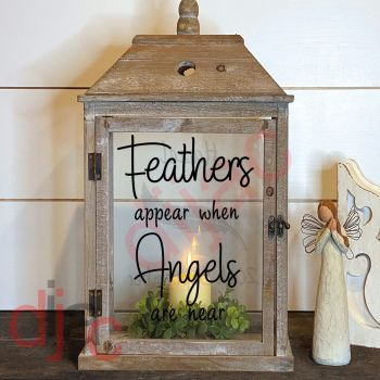 FEATHERS APPEAR (D2) 2 part LANTERN DECAL 13 x 9 cm