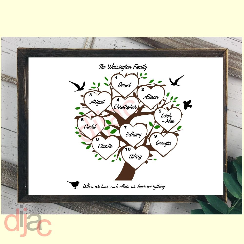 10 NAME FAMILY TREE PRINT
