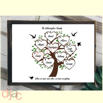 9 NAME FAMILY TREE PRINT