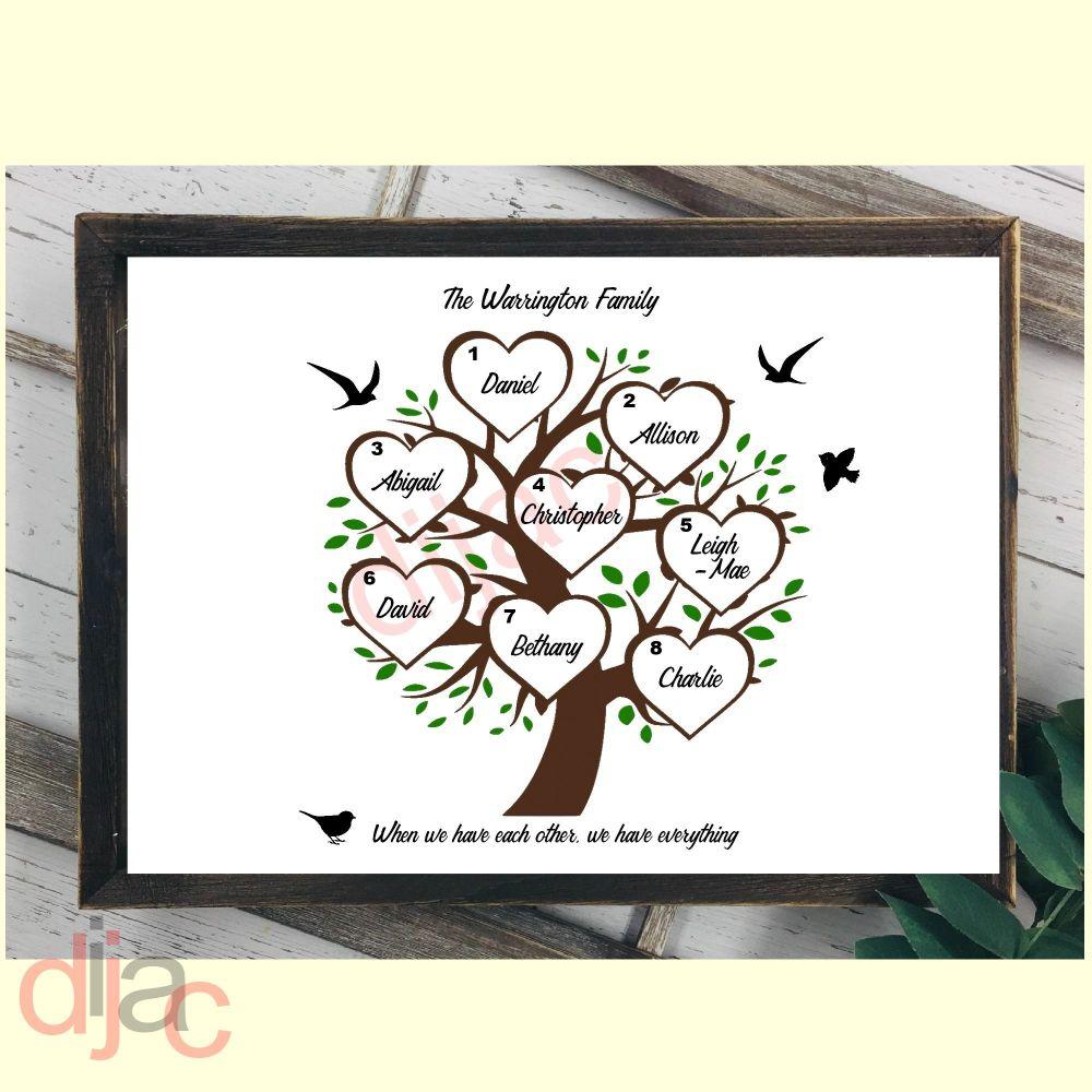 8 NAME FAMILY TREE PRINT