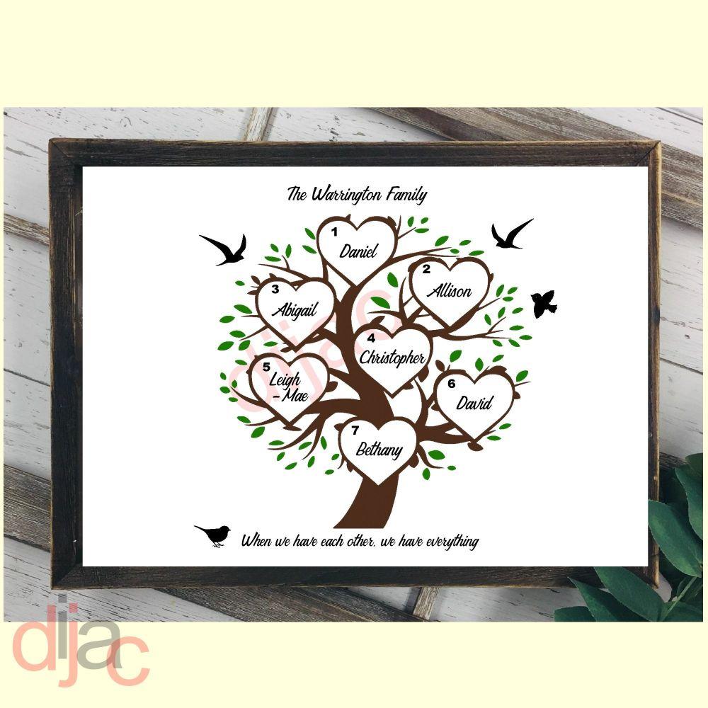 7 NAME FAMILY TREE PRINT