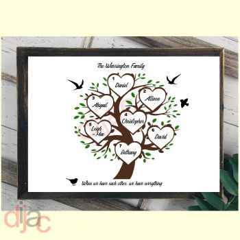 7 NAME FAMILY TREE PRINT