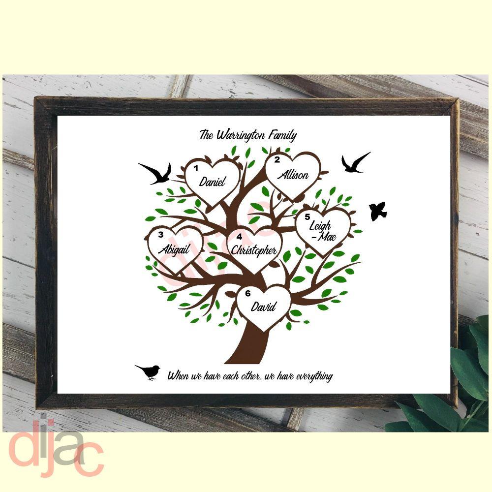 6 NAME FAMILY TREE PRINT