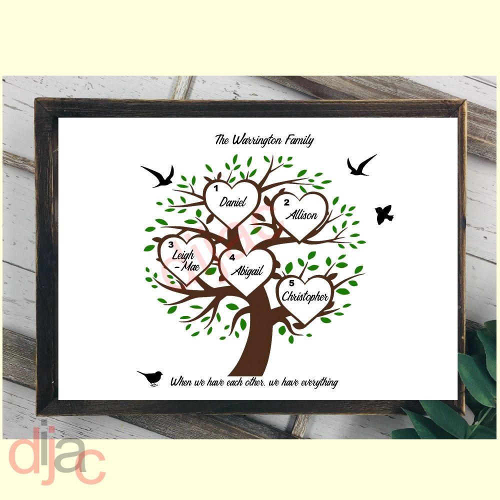 5 NAME FAMILY TREE PRINT
