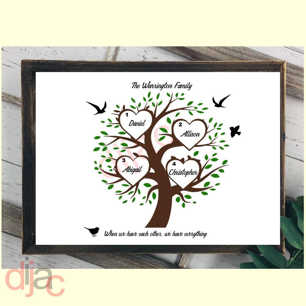 4 NAME FAMILY TREE PRINT