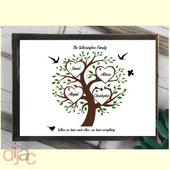 4 NAME FAMILY TREE PRINT