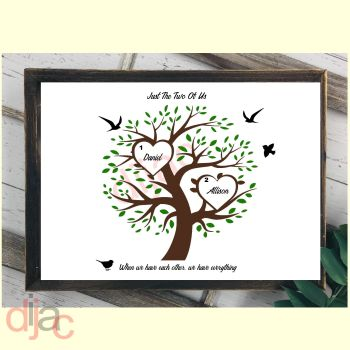 2 NAME FAMILY TREE PRINT
