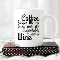 COFFEE KEEPS ME BUSY... VINYL DECAL