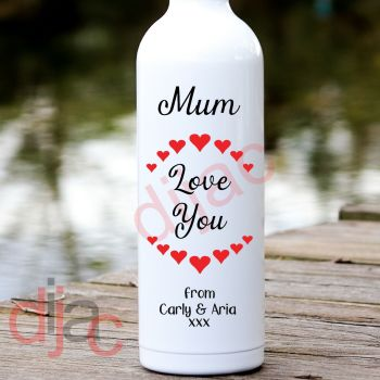 MUM LOVE YOUPERSONALISED8 x 17.5 cm