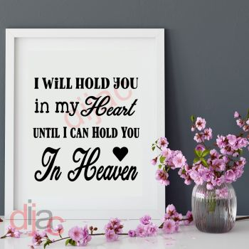 UNTIL I CAN HOLD YOU IN HEAVEN15 x 15 cm