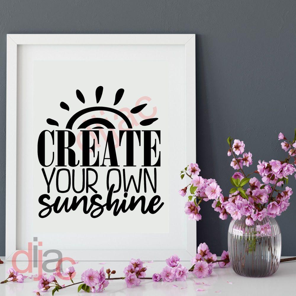CREATE YOUR OWN SUNSHINE VINYL DECAL