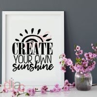 CREATE YOUR OWN SUNSHINE<br>15 x 15 cm