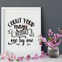 COUNT YOUR MANY BLESSINGS<br>15 x 15 cm