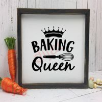 BAKING QUEEN<br>15 x 15 cm