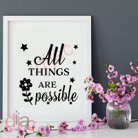 ALL THINGS ARE POSSIBLE<br>15 x 15 cm