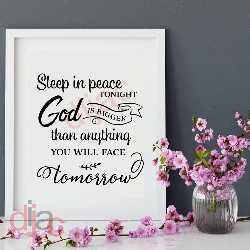SLEEP IN PEACE TONIGHT VINYL DECAL