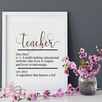 TEACHER DEFINITION15 x 15 cm
