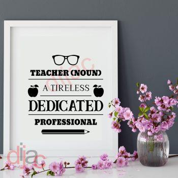 TEACHER NOUN15 x 15 cm