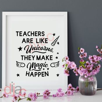 TEACHERS ARE LIKE UNICORNS15 x 15 cm