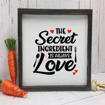 THE SECRET INGREDIENT (D2)15 x 15 cm