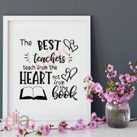 THE BEST TEACHERS TEACH FROM THE HEART<br>15 x 15 cm