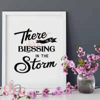 THERE IS A BLESSING IN THE STORM<br>15 x 15 cm
