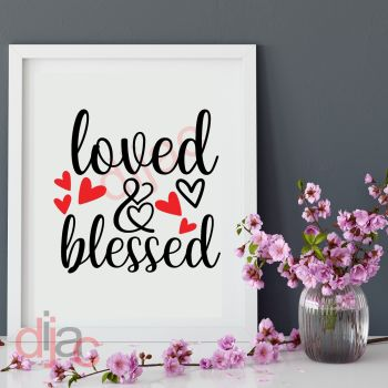 LOVED AND BLESSED15 x 15 cm