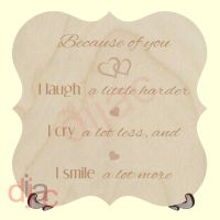 BECAUSE OF YOU PLAQUE