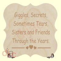 GIGGLES AND SECRETS PLAQUE
