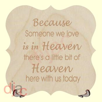 HEAVEN WITH US TODAY PLAQUE