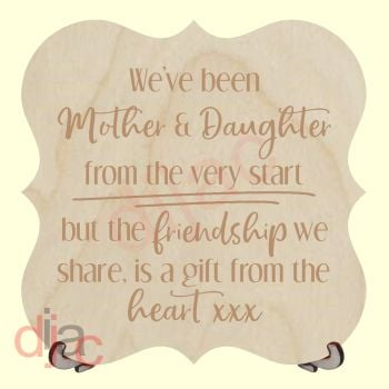 MOTHER AND DAUGHTER PLAQUE