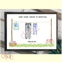 2 CHARACTER WASHING LINE FAMILY PRINT