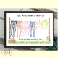6 CHARACTER WASHING LINE FAMILY PRINT