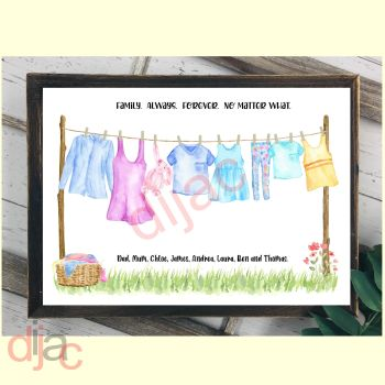 8 CHARACTER WASHING LINE FAMILY PRINT