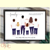 6 CHARACTER JEANS & T-SHIRT FAMILY PRINT