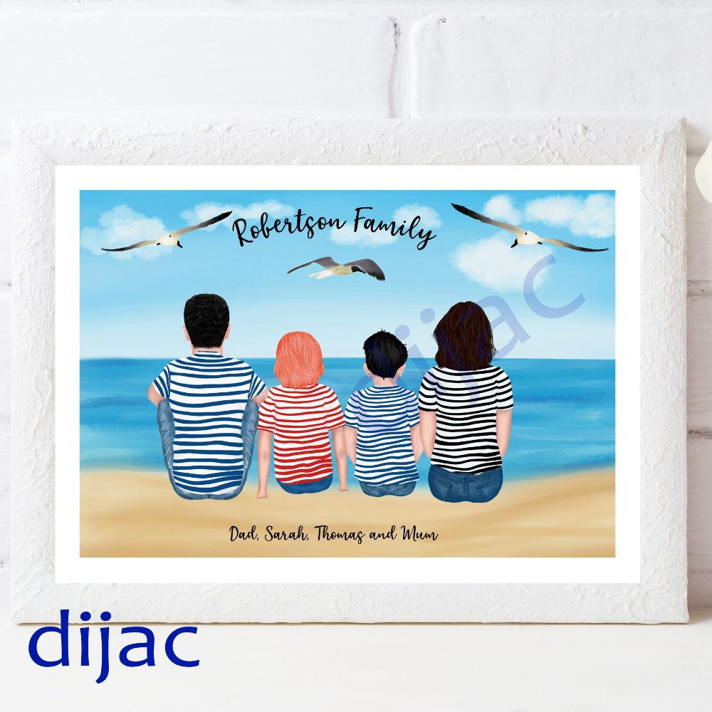 Beach Family Prints