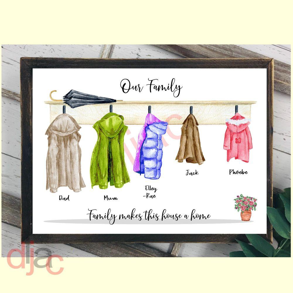 5 CHARACTER COAT (D1) FAMILY PRINT