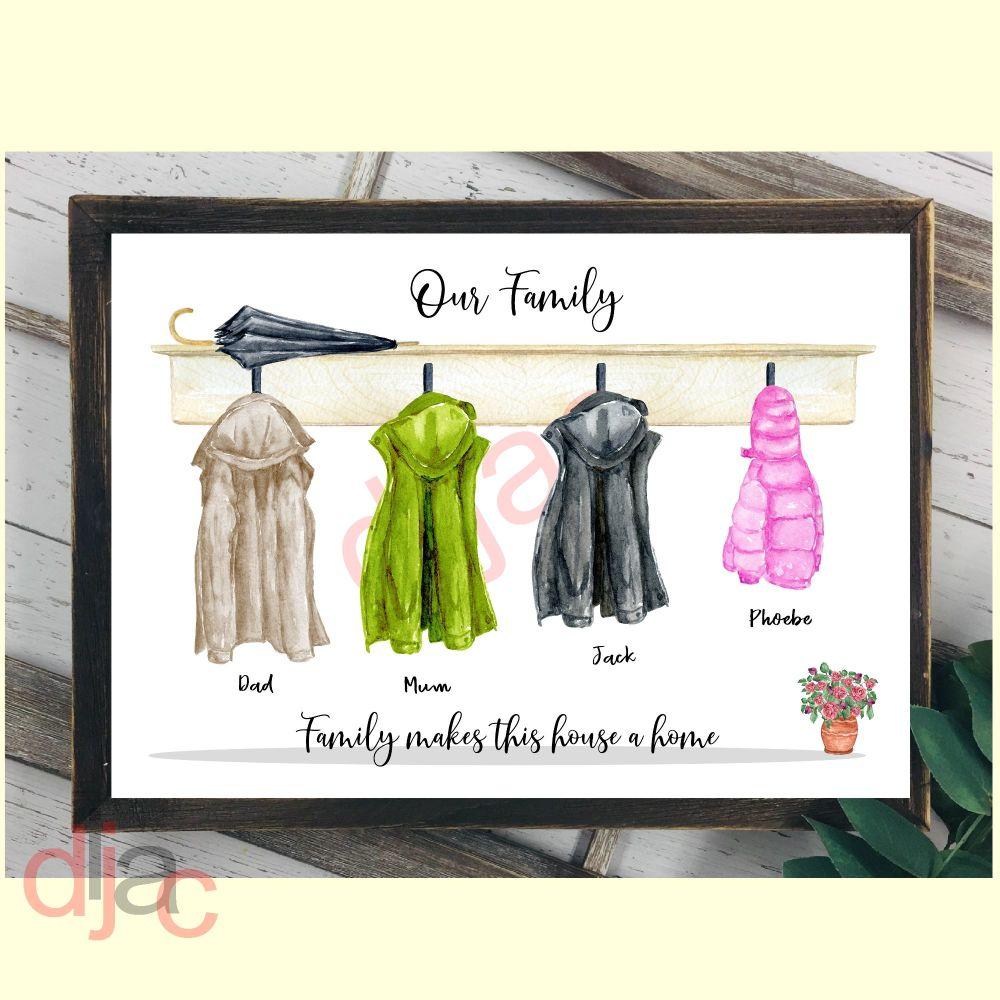4 CHARACTER COAT (D1) FAMILY PRINT