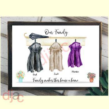 3 CHARACTER COAT (D1) FAMILY PRINT