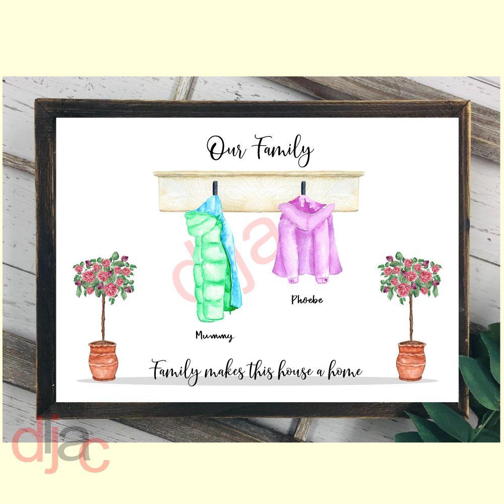 2 CHARACTER COAT (D1) FAMILY PRINT