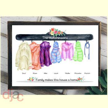7 CHARACTER COAT (D2) FAMILY PRINT