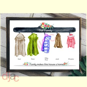 5 CHARACTER COAT (D2) FAMILY PRINT