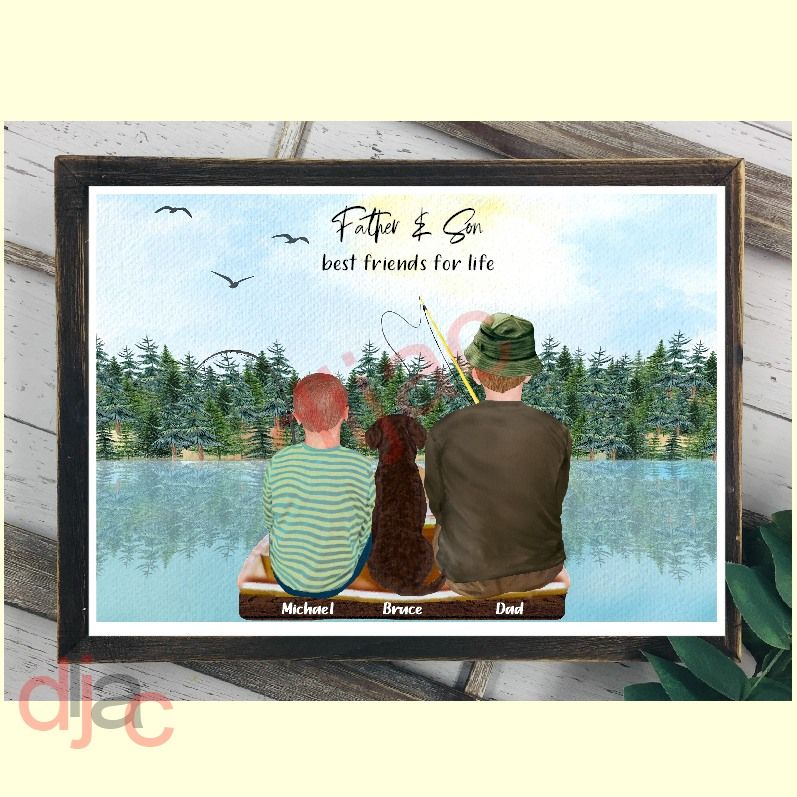 Father & Son Fishing Print