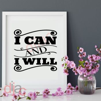 I CAN AND I WILL15 x 15 cm