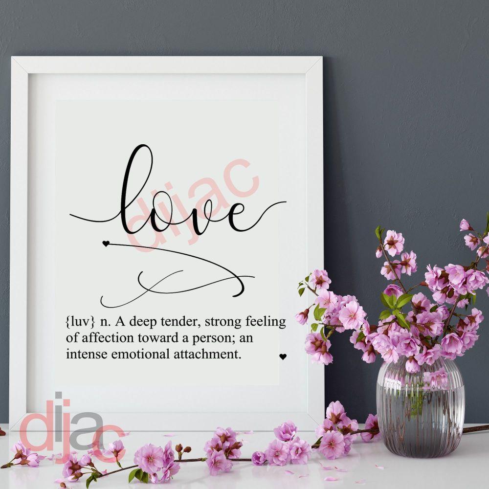 LOVE DEFINITION 15 x 15 cm