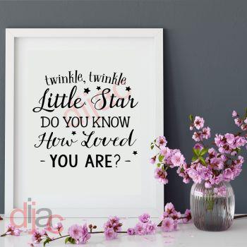 TWINKLE TWINKLE LITTLE STAR (D2)15 x 15 cm